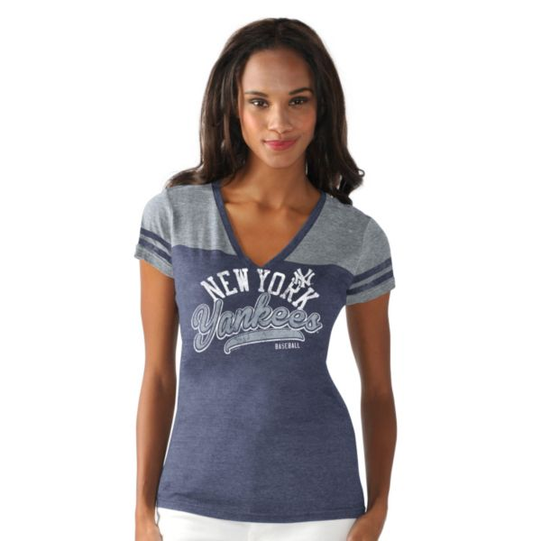 Women's New York Yankees Cascade V-Neck Top