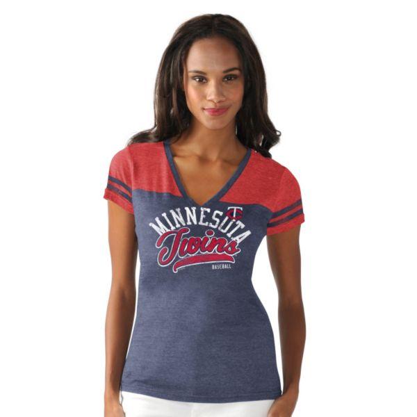 Women's Minnesota Twins Cascade V-Neck Top
