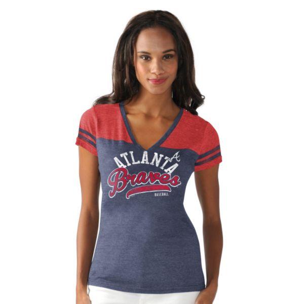 Women's Atlanta Braves Cascade V-Neck Top