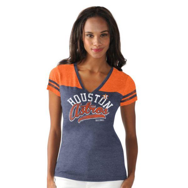 Women's Houston Astros Cascade V-Neck Top
