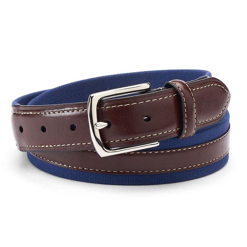 Men's IZOD Casual Canvas Leather Belt