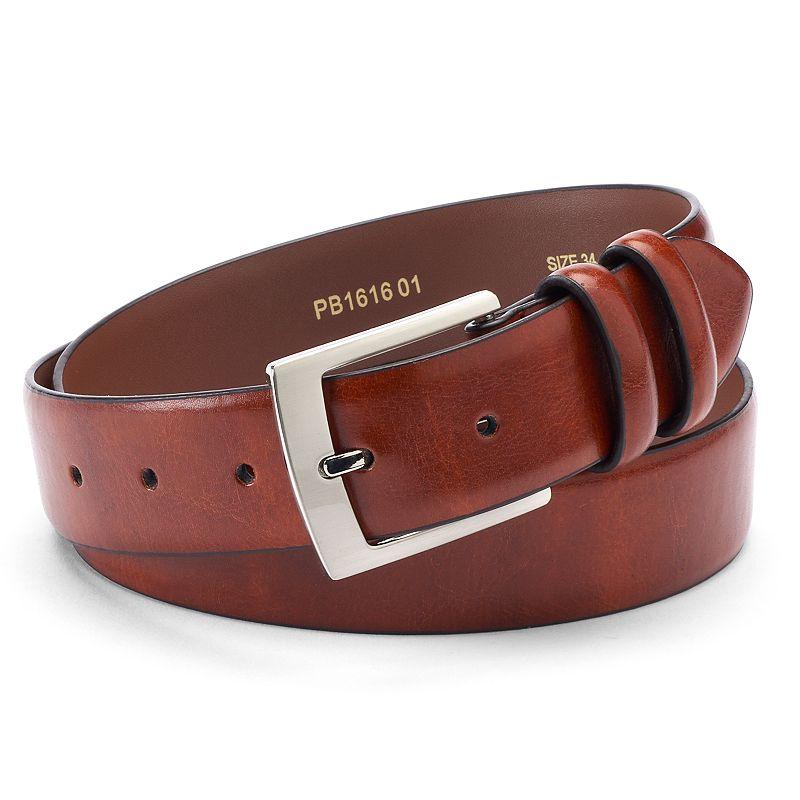 Men's IZOD Beveled-Edge Leather Belt