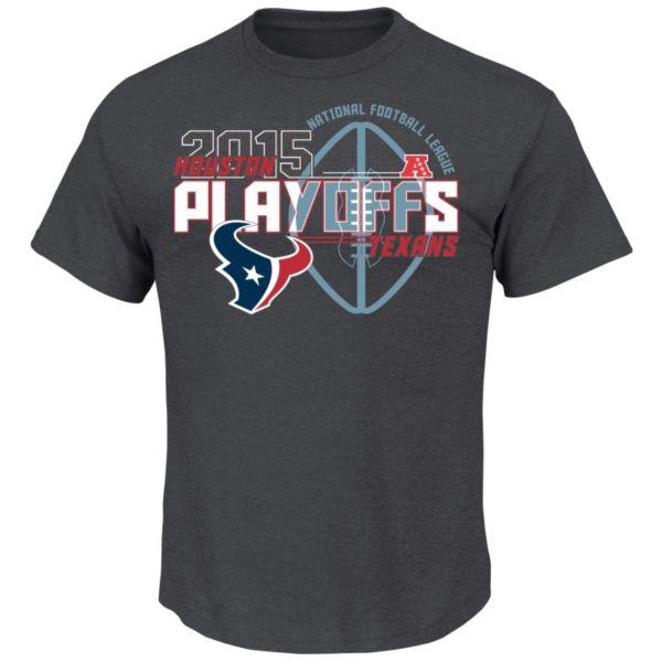 Men's Majestic Houston Texans Super Bowl 50 Playoffs Tee