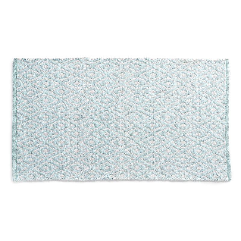 VISSAJ Morrocan Chenille Geometric Handwoven Flatweave Rug