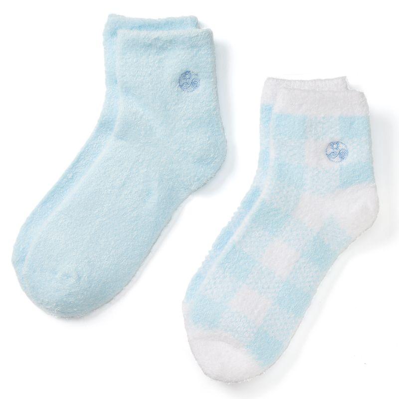 Earth Therapeutics 2-pk. Plaid & Solid Aloe Socks