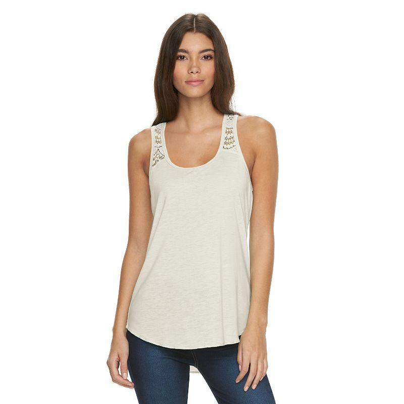 Juniors' Mudd® High-Low Racerback Tank Top