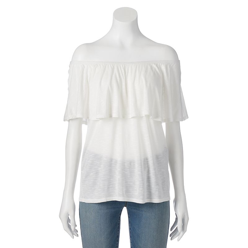 Juniors' Cloud Chaser Off-The-Shoulder Top