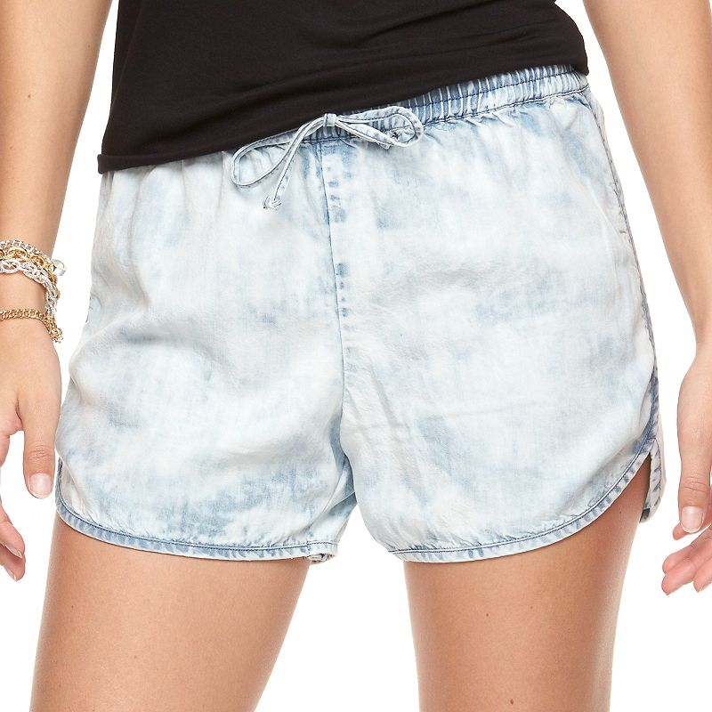 Women's Juicy Couture Acid-Wash Chambray Shorts