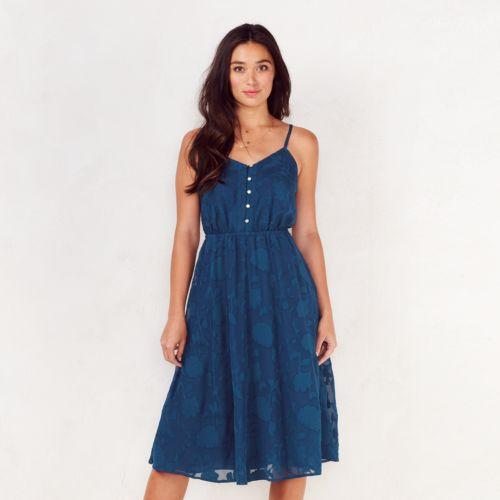Women's LC Lauren Conrad Floral Jacquard Midi Dress