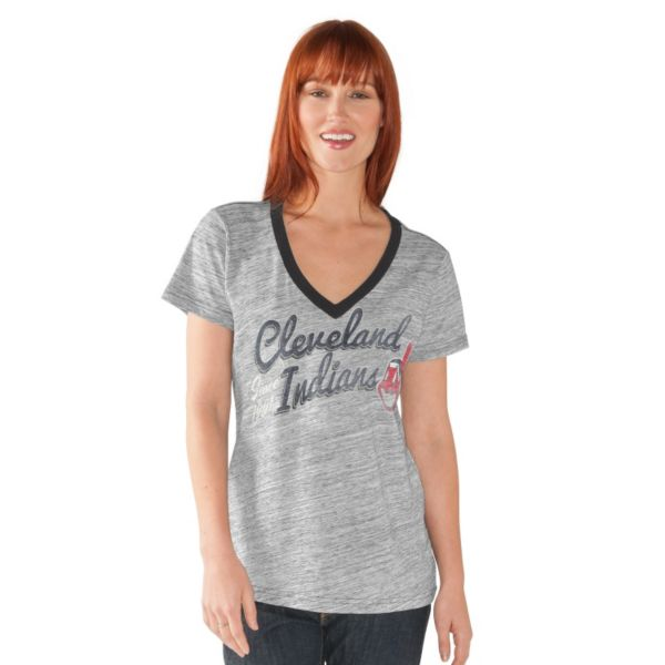 Women's Cleveland Indians Ace V-Neck Tee