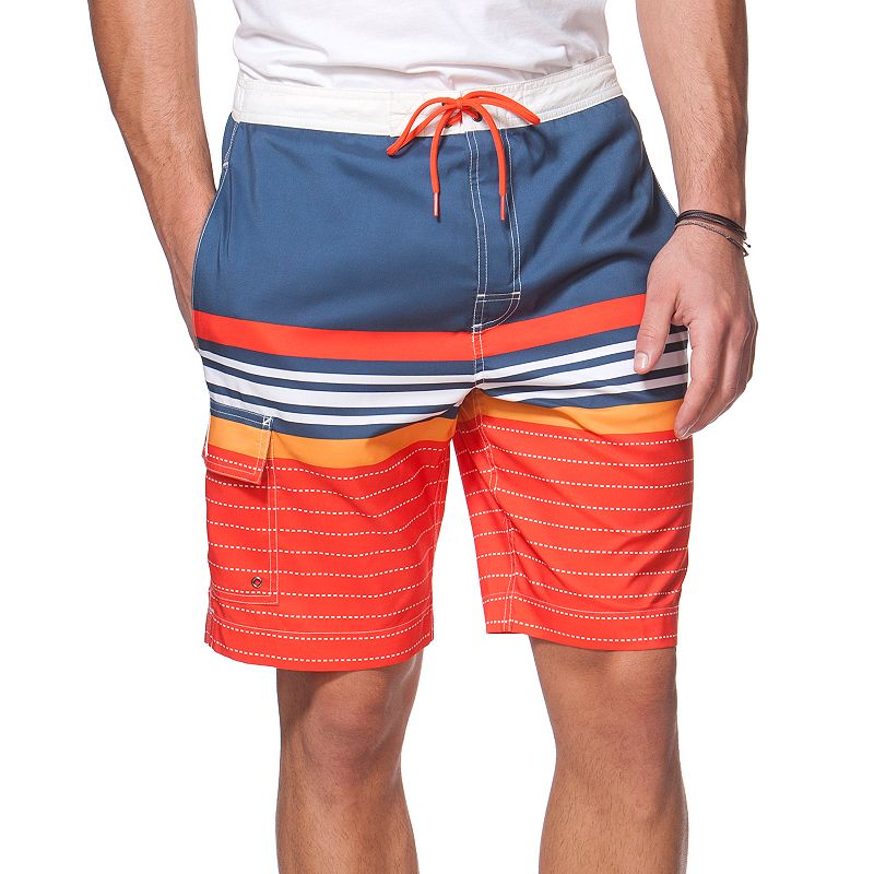 Big & Tall Chaps Striped Board Shorts