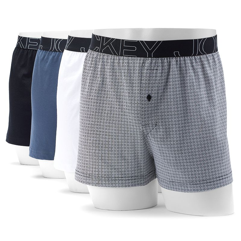 Men's Jockey 4-pack Active Blend Performance Knit Boxers