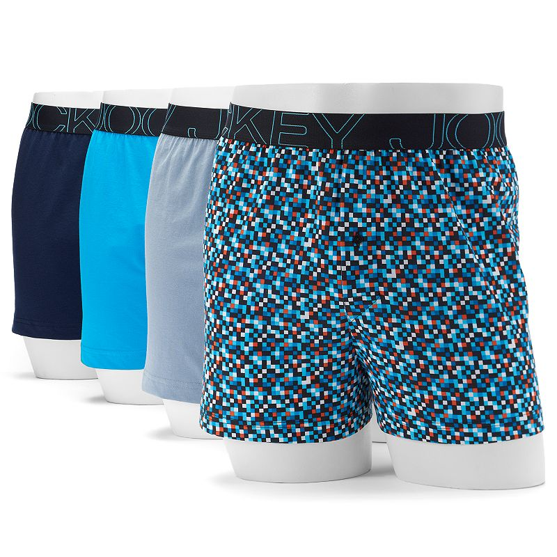 Men's Jockey 4-pack Active Blend Performance Knit Boxers