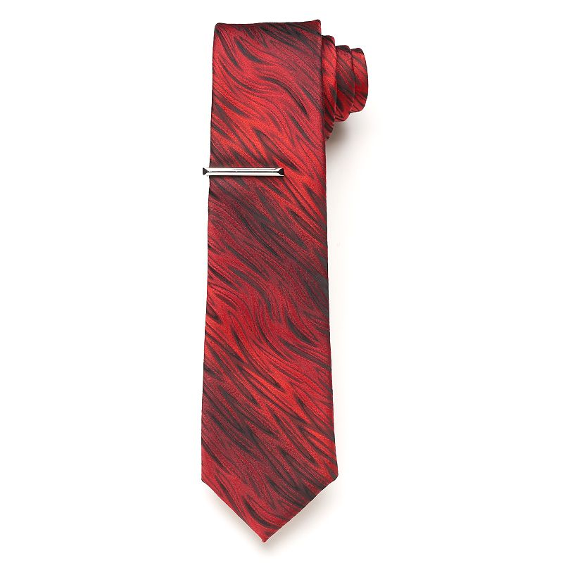 Men's Apt. 9® Barton Tie & Tie Bar