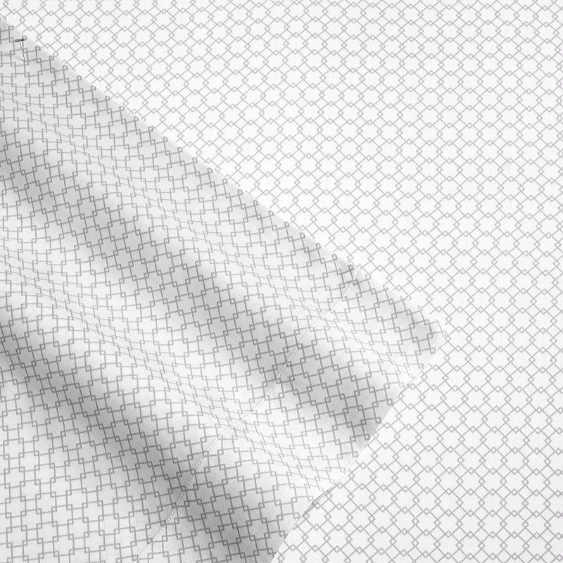 Laura Ashley Lifestyles Lattice 4-piece 300 Thread Count Sheet Set