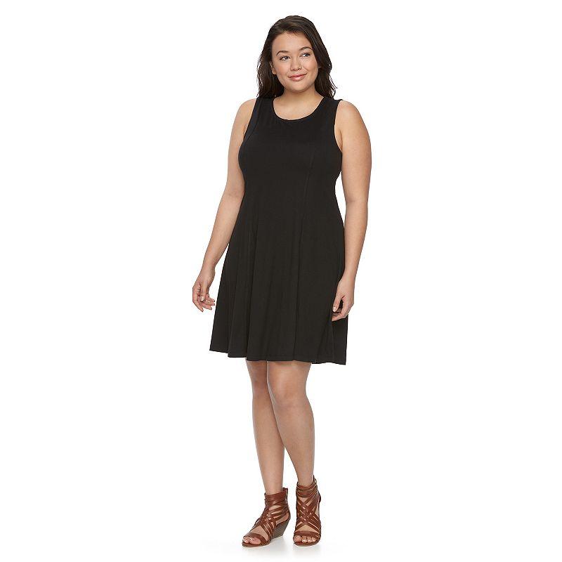 Juniors' Plus Size Mudd® Fit & Flare Knit Dress