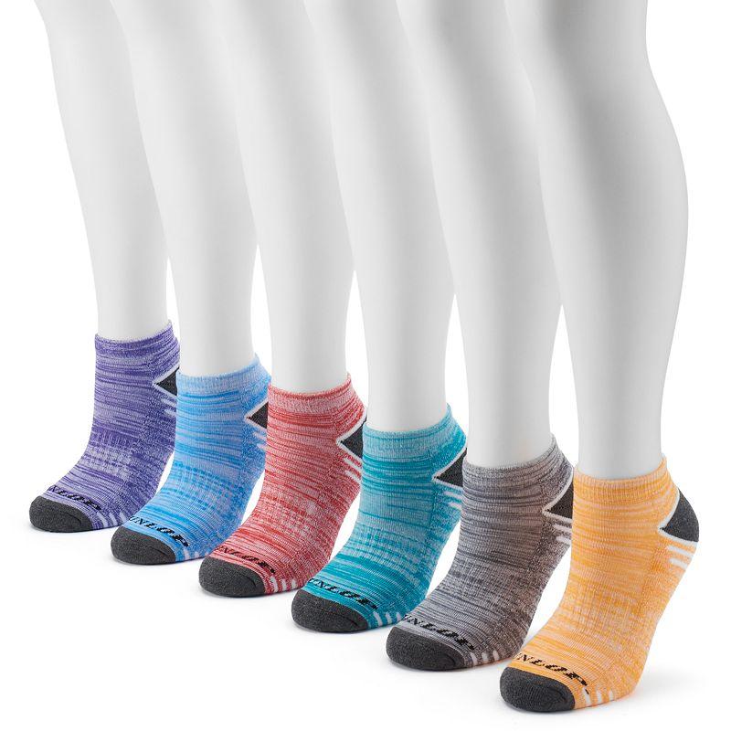 Women's Dunlop 6-pk. Marled & Striped Low-Cut Socks