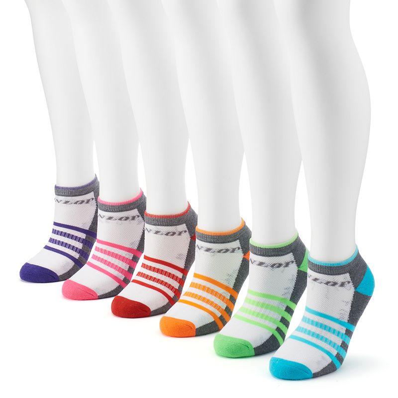 Women's Dunlop 6-pk. Striped Low-Cut Socks
