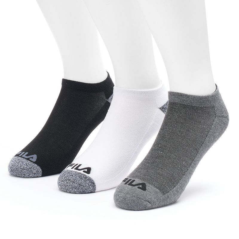 Men's FILA SPORT 3-pack Sport Performance No-Show Marled Socks