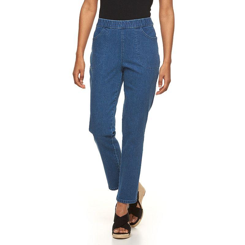 Petite Croft & Barrow® Tapered Pull-On Jeans