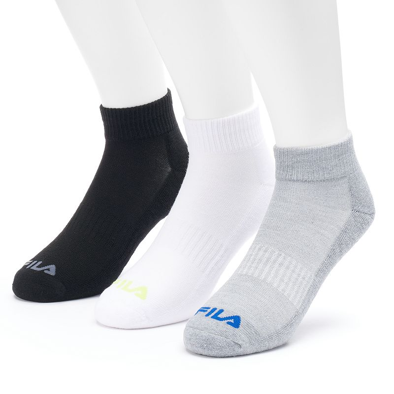 Men's FILA SPORT 3-pack Sport Performance Quarter Socks