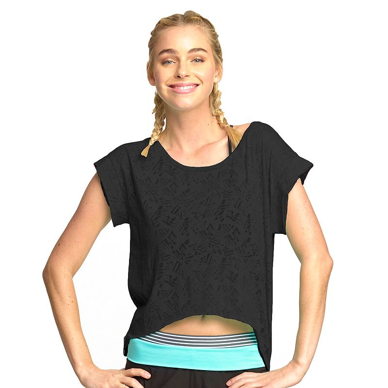 Women's Colosseum Caribbean Burnout Cropped Yoga Tee