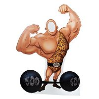Carnival Strong Man with Barbell Stand In