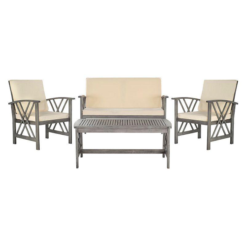 Safavieh Fontana Outdoor Patio Chair Coffee Table 4