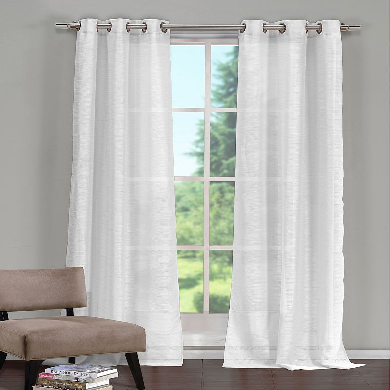 White Semi Sheer Curtain Kohl S