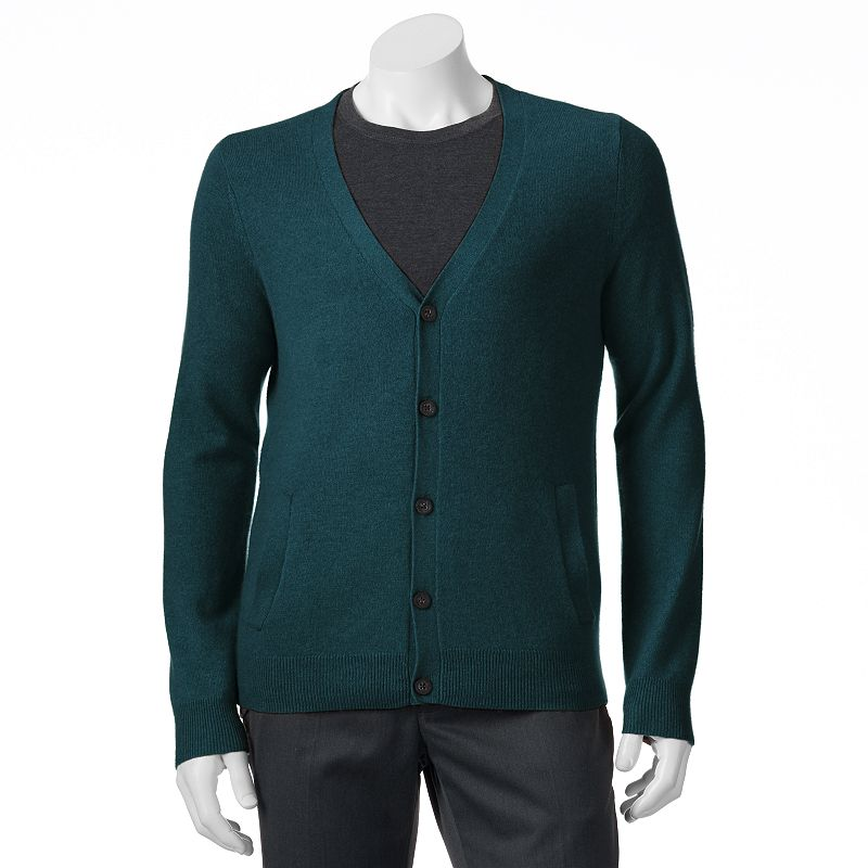 Men's Marc Anthony Classic-Fit Solid Button-Front Cashmere Cardigan