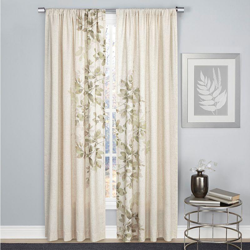 1888 Mills 2 Pack Hamilton Leaf Curtains