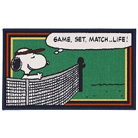 Peanuts Friends Snoopy Tennis Rug - 18