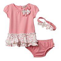 Baby Girl Harry & Violet Umbrella Dress & Headband Set