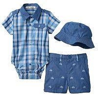 Baby Boy Harry & Violet Plaid Bodysuit & Shorts Set