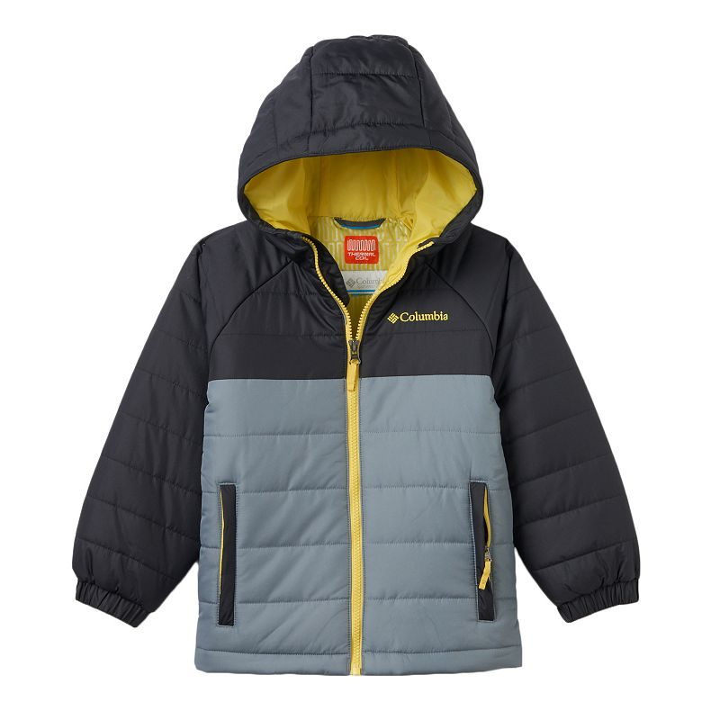 Boys 4-7 Columbia Insulated Thermal Coil Hooded Puffer Jacket, Boy's, Size: 4-5, Grey (Charcoal)