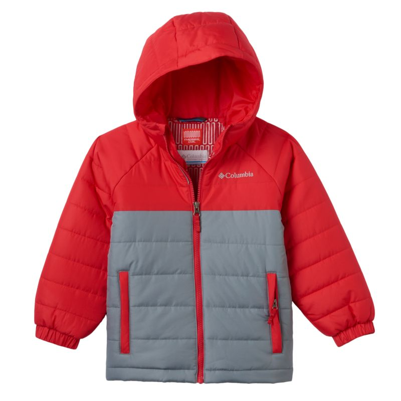 Boys 4-7 Columbia Insulated Thermal Coil Hooded Puffer Jacket, Boy's, Size: 4-5, Med Red