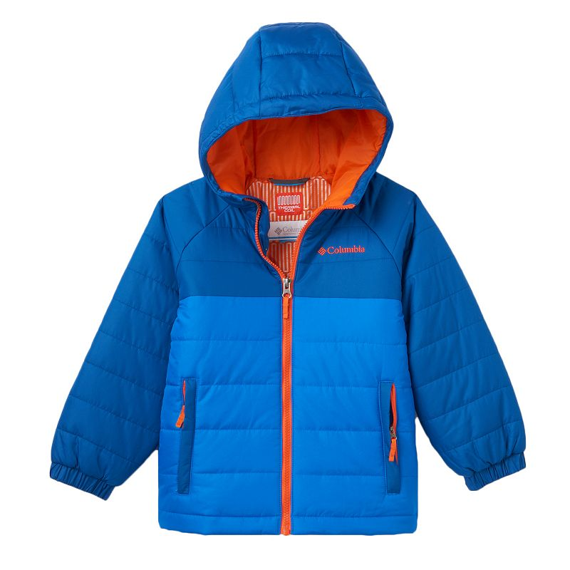 Boys 4-7 Columbia Insulated Thermal Coil Hooded Puffer Jacket, Boy's, Size: 4-5, Brt Blue