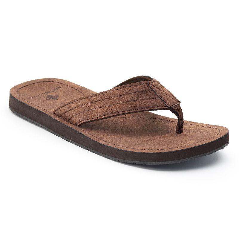 Men's Vintage Stone Basic Thong Flip-Flops