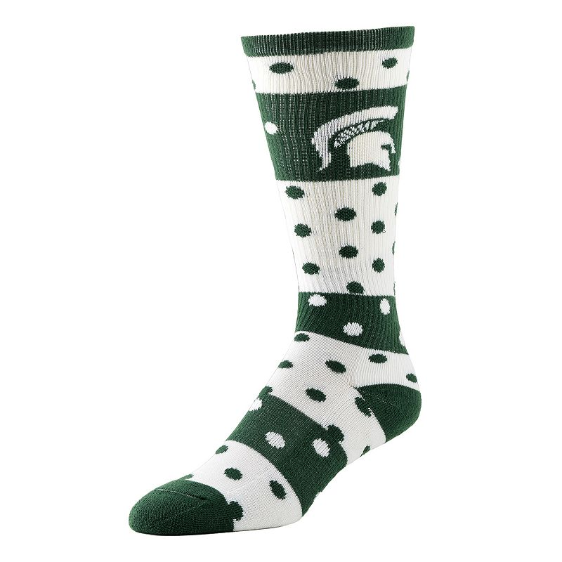 Women's Michigan State Spartans Dotted Line Knee-High Socks