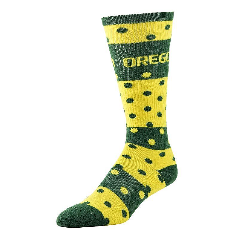 Women's Oregon Ducks Dotted Line Knee-High Socks