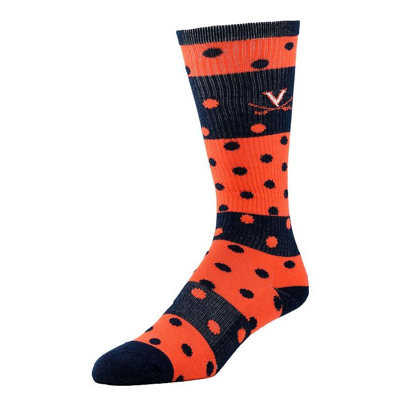 Women's Virginia Cavaliers Dotted Line Knee-High Socks