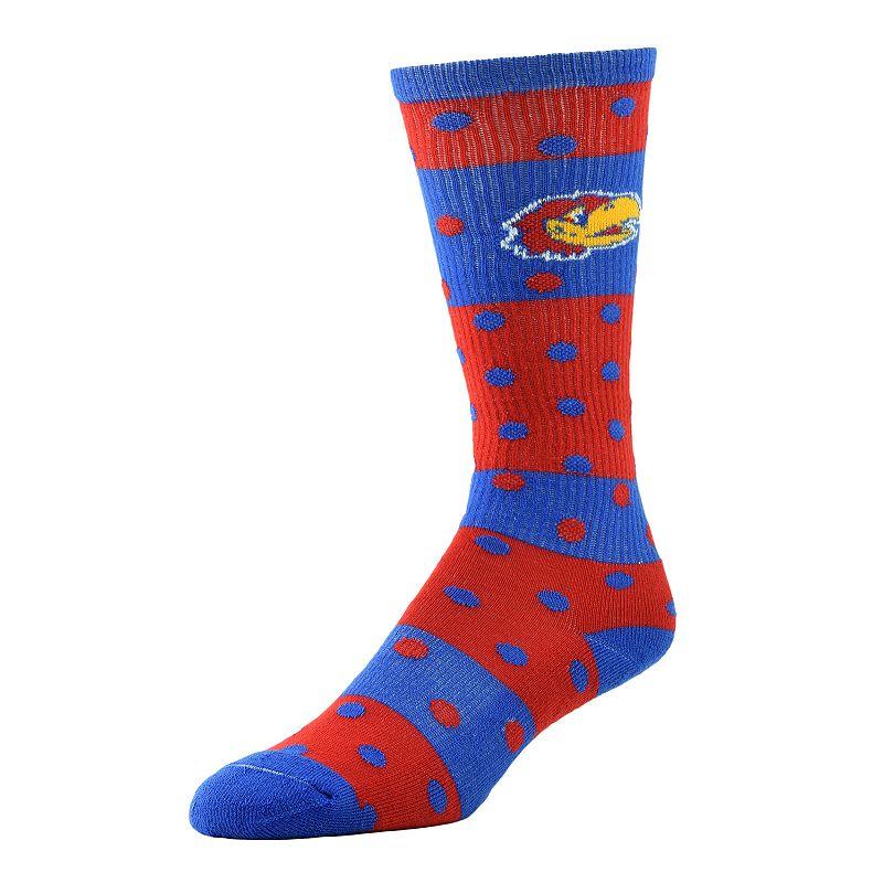 Women's Kansas Jayhawks Dotted Line Knee-High Socks