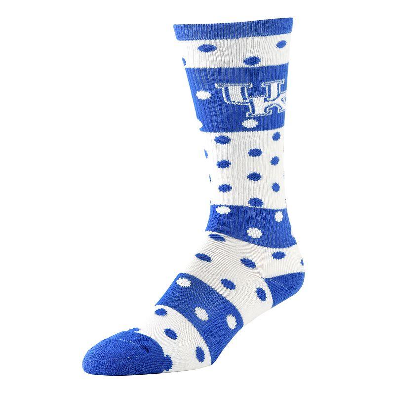 Women's Kentucky Wildcats Dotted Line Knee-High Socks