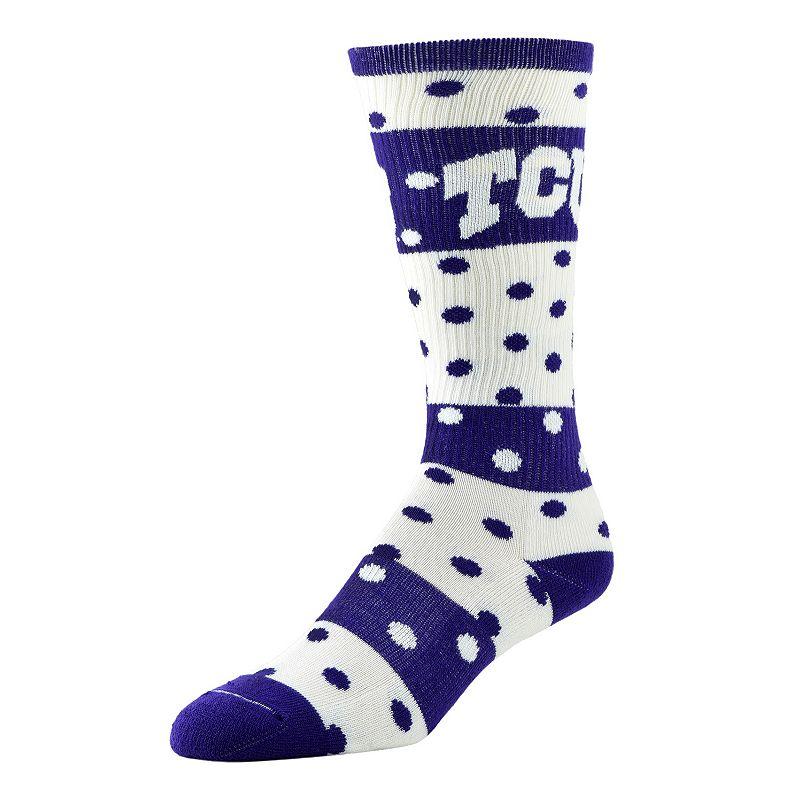 Women's TCU Horned Frogs Dotted Line Knee-High Socks