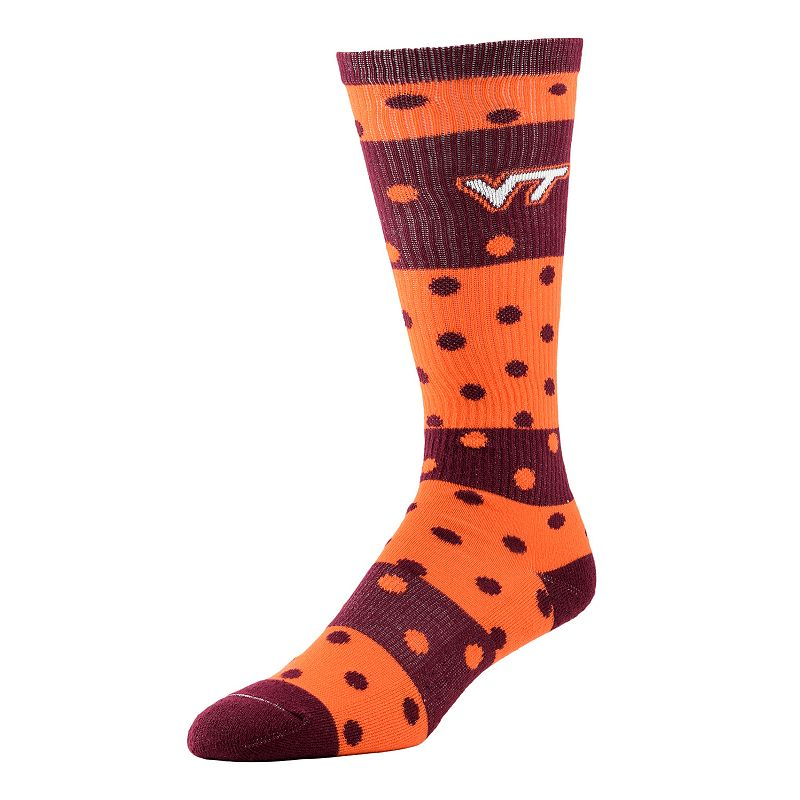Women's Virginia Tech Hokies Dotted Line Knee-High Socks