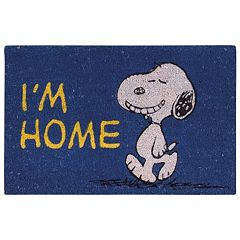Peanuts ''I'm Home'' Coir Welcome Doormat 18'' x 28''