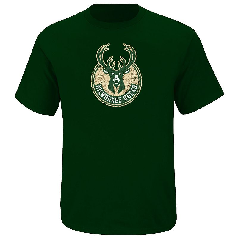 Big & Tall Majestic Milwaukee Bucks Tee