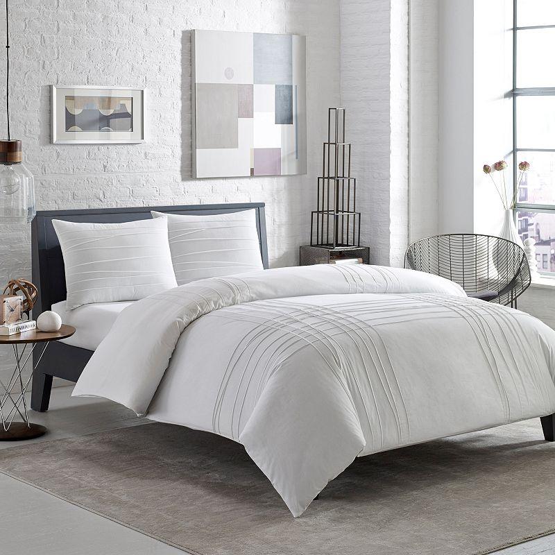 City Scene Variegated Pleats Comforter Set