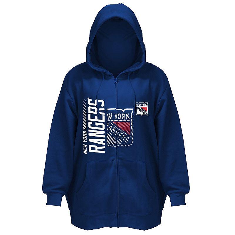 Plus Size Majestic New York Rangers Full-Zip Hoodie