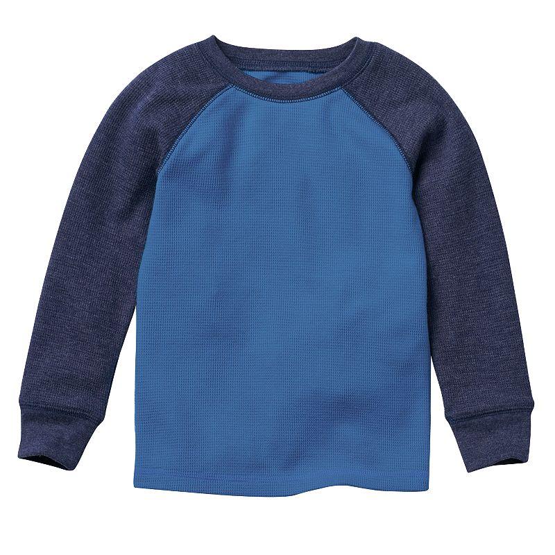 Toddler Boy Jumping Beans® Colorblock Raglan Solid Thermal Tee